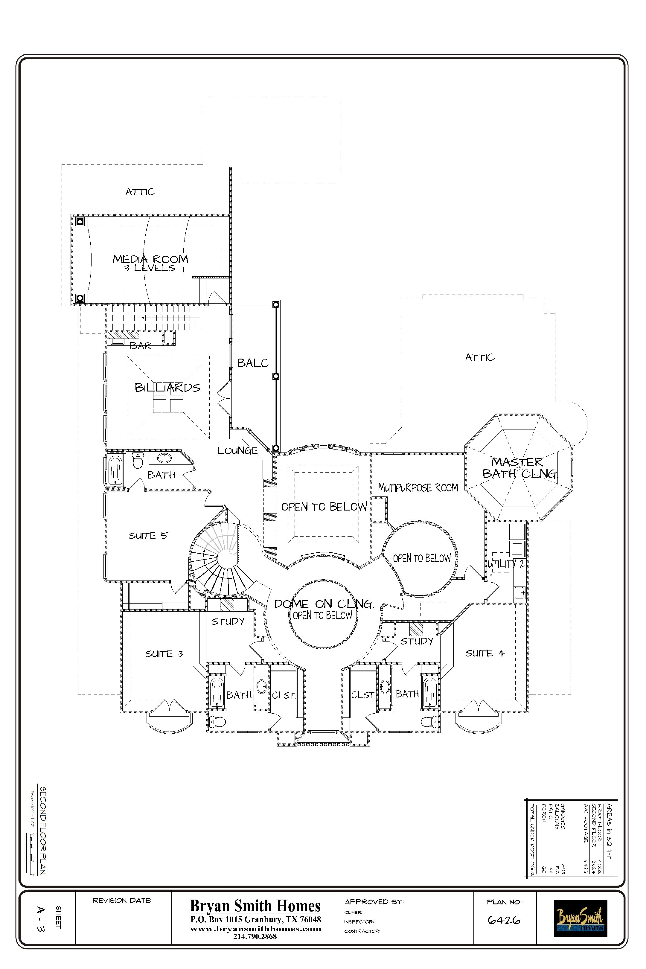 French renaissance plan 6426 for Renaissance homes floor plans