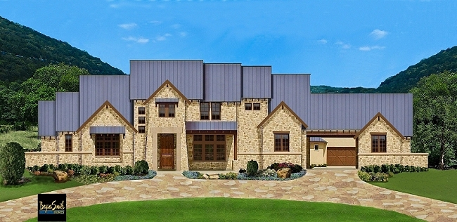 Texas hill country plan 7500 for Hill country style home plans