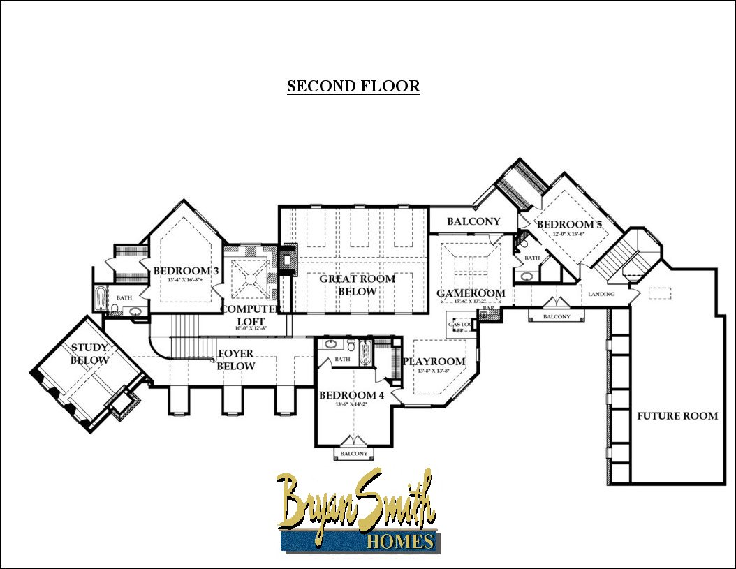 Texas hill country plan 6782 for Texas floors