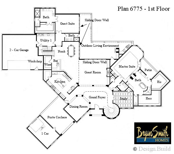 Rustic mountain plan 6037 for Luxury mountain home floor plans