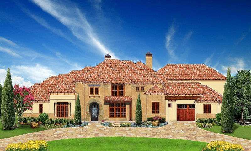 Plan 7500 italian villa for Usa home builders